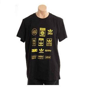 NWT Adidas Mens Black Labels Logo T-Shirt L